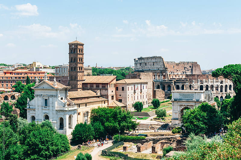 Ancient Ruins in Rome by Jen Grantham for Stocksy United