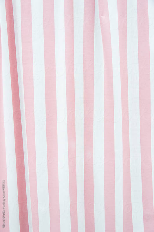 White and pink curtains by Bisual Studio for Stocksy United