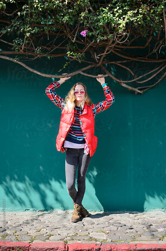 Red line by Alice Nerr for Stocksy United