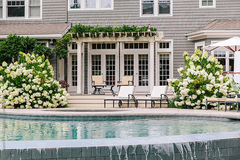 Residential Pool Patio in Summer by Raymond Forbes LLC for Stocksy United