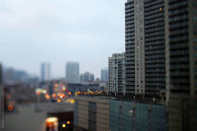 Looking Across The City Lights Of Chicago On A Gray Day by ALICIA BOCK for Stocksy United