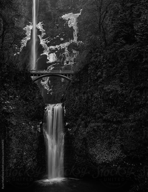 Multnomah Falls, Oregon by Ryan Matthew Smith for Stocksy United