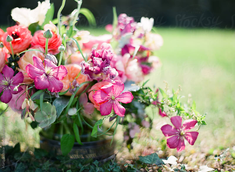 English Garden Floral Arrangement by Marta Locklear for Stocksy United