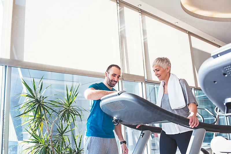 Senior Woman on a Treadmill by Lumina for Stocksy United