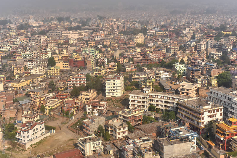 Aerial views of Kathmandu by Bisual Studio for Stocksy United