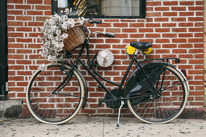Vintage Bicycle Leaning to a Wall by VICTOR TORRES for Stocksy United