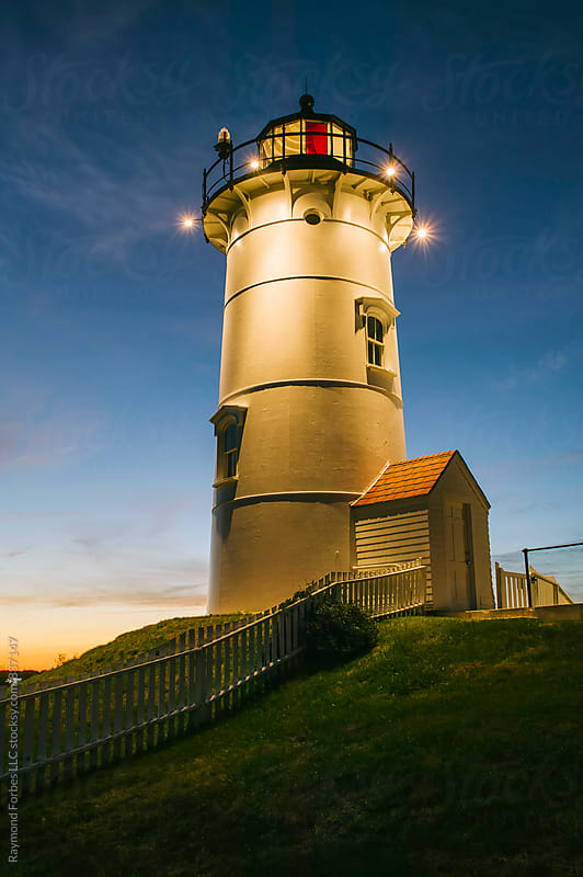Nobska Lighthouse on Cape Cod by Raymond Forbes LLC for Stocksy United