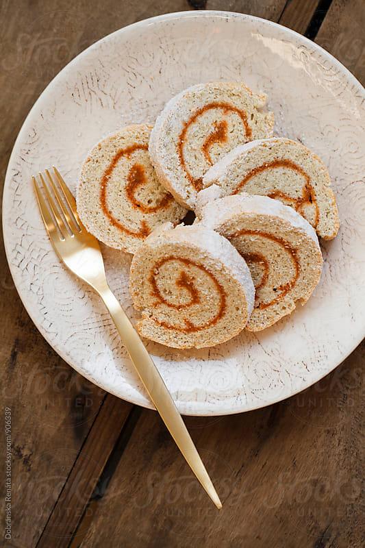 Swiss Roll with apricot jam by Dobránska Renáta for Stocksy United