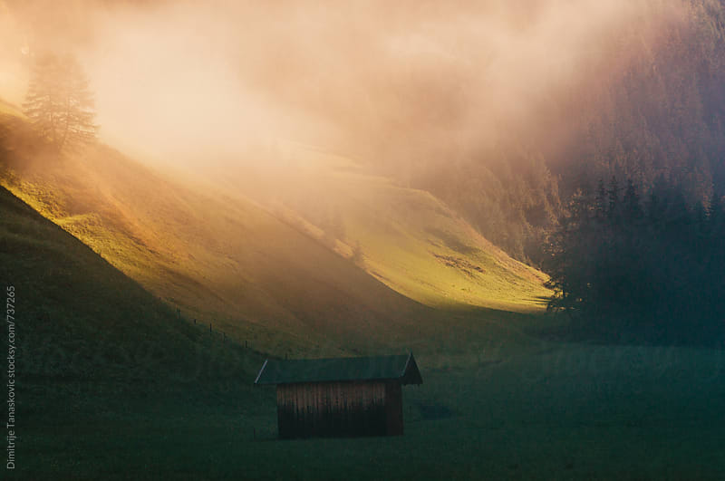 Beautiful morning scene in Austrian Alps by Dimitrije Tanaskovic for Stocksy United