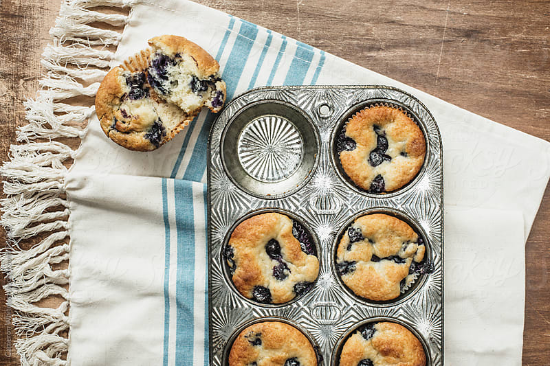 Blueberry Muffins  by Cameron Whitman for Stocksy United