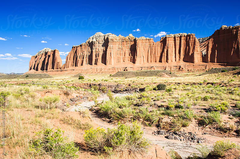 cathedral valley in capitol reef national park by Peter Wey for Stocksy United