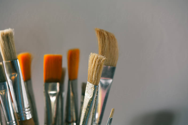 Paintbrushes set by Pixel Stories for Stocksy United