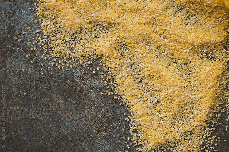 Cornmeal Macro by Gabriel (Gabi) Bucataru for Stocksy United