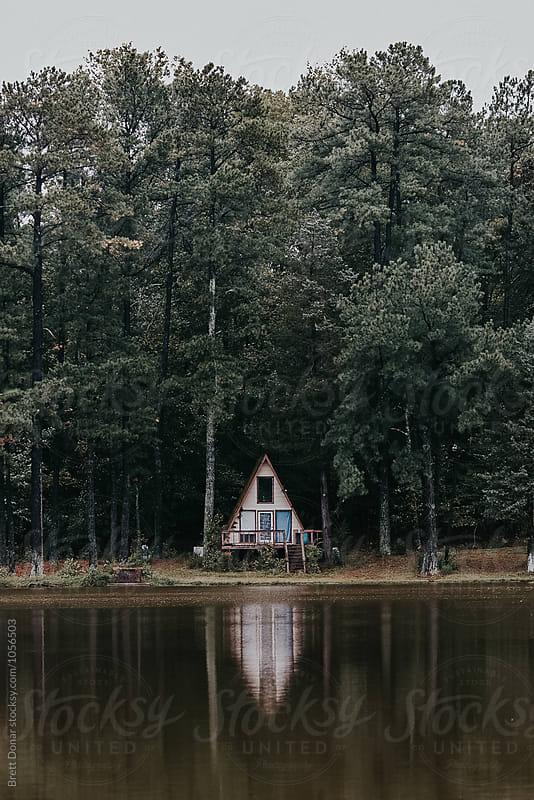 A-frame house by Brett Donar for Stocksy United