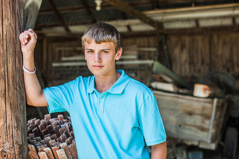 Americana: Portrait of a Modern Teenage Farmer by Studio J, Inc. for Stocksy United