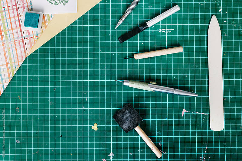 various tools for crafting by Gillian Vann for Stocksy United