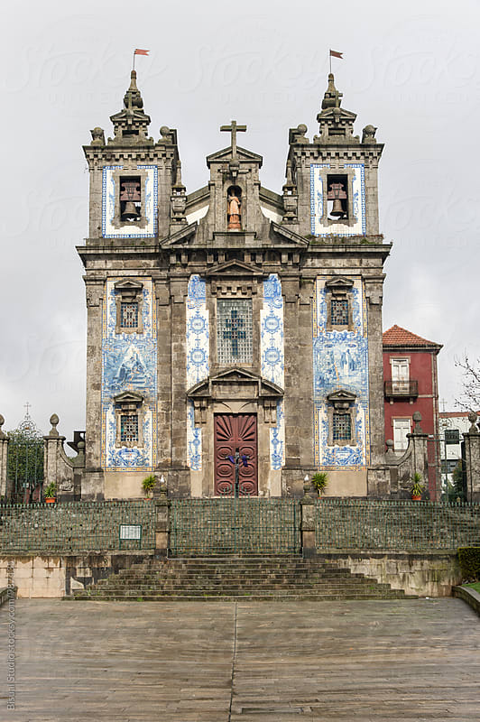 Typical portuguese church cover with blue tiles by Bisual Studio for Stocksy United