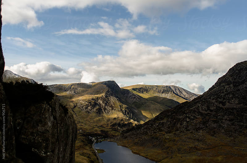 Mountain Landscape in Snowdonia Wales by Neil Warburton for Stocksy United
