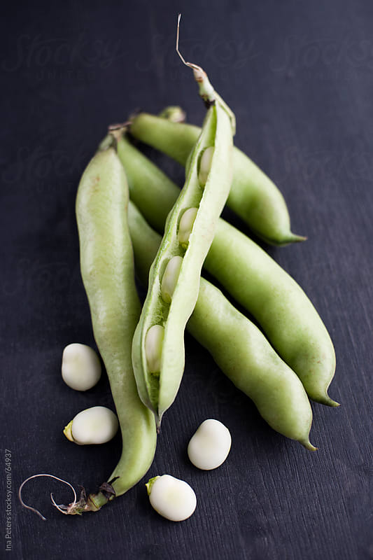 Food: Fresh Organic Fava Beans by Ina Peters for Stocksy United