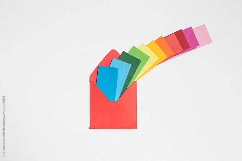 Multi-coloured mail... by Catherine MacBride for Stocksy United
