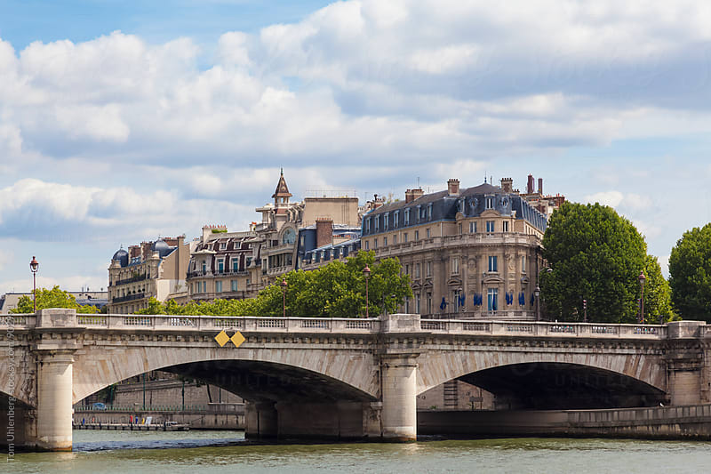 Paris, France - Cityscape with Pont de la Concorde by Tom Uhlenberg for Stocksy United