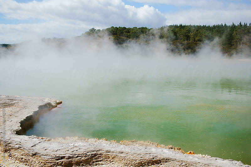 Champagne Geothermal Pool, New Zealand by Cameron Zegers for Stocksy United