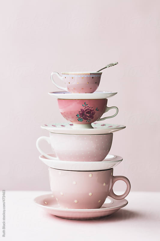 Teacup tower by Ruth Black for Stocksy United