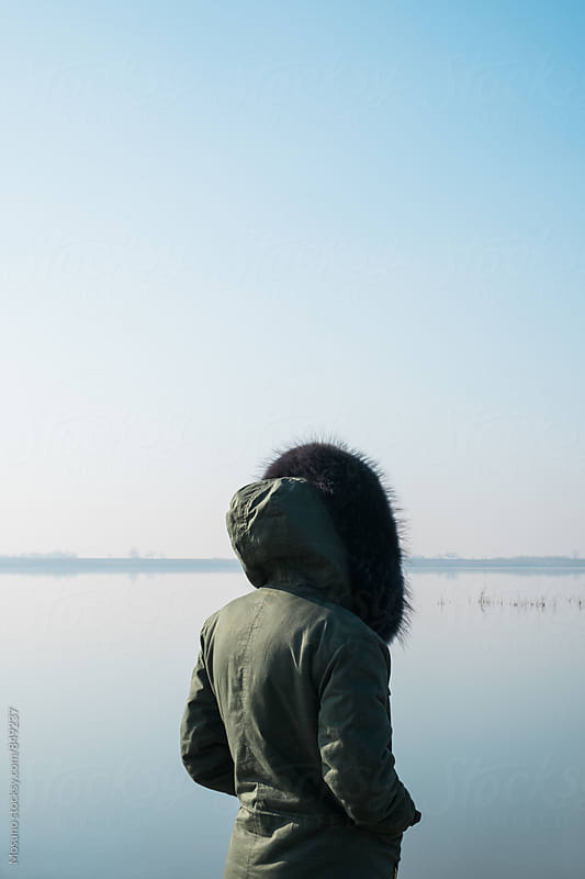 Anonymous Woman Standing by the Lake by Mosuno for Stocksy United