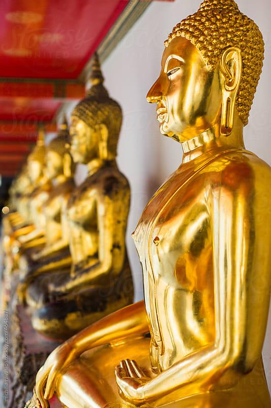 Wat Pho Buddha, Bangkok, Thailand by michela ravasio for Stocksy United
