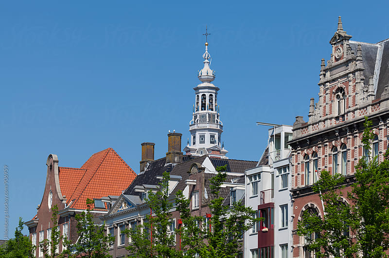 Amsterdam, the Netherlands - Cityscape with Zuiderkerk Tower by Tom Uhlenberg for Stocksy United