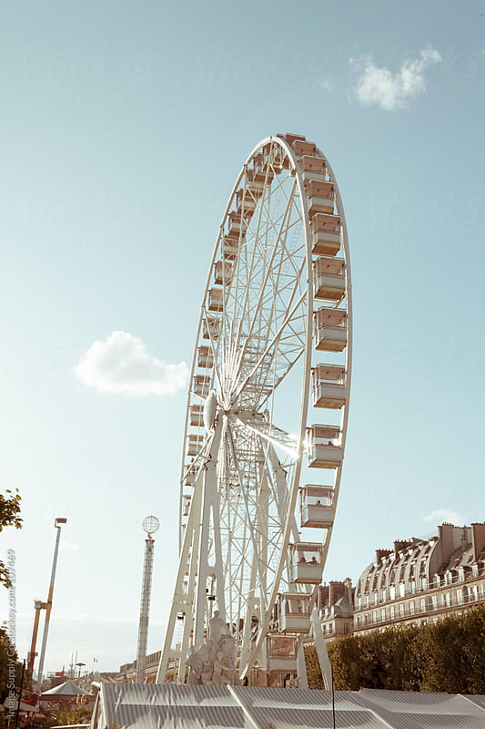Ferris wheel in Paris by Image Supply Co for Stocksy United