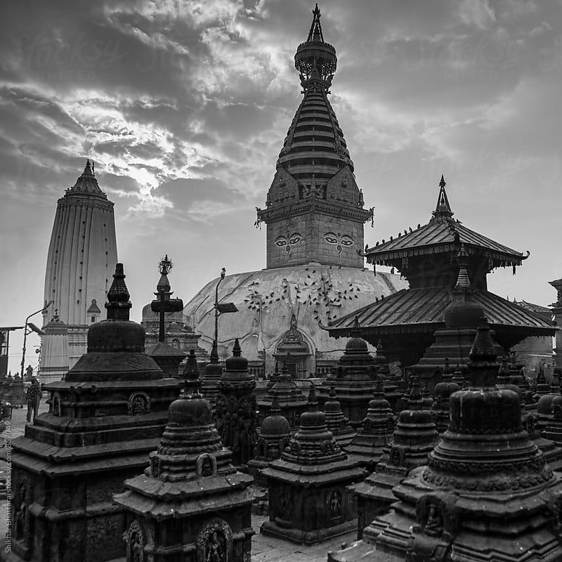 Swayambhunath Stupa, Kathmandu, Nepal. by Shikhar Bhattarai for Stocksy United