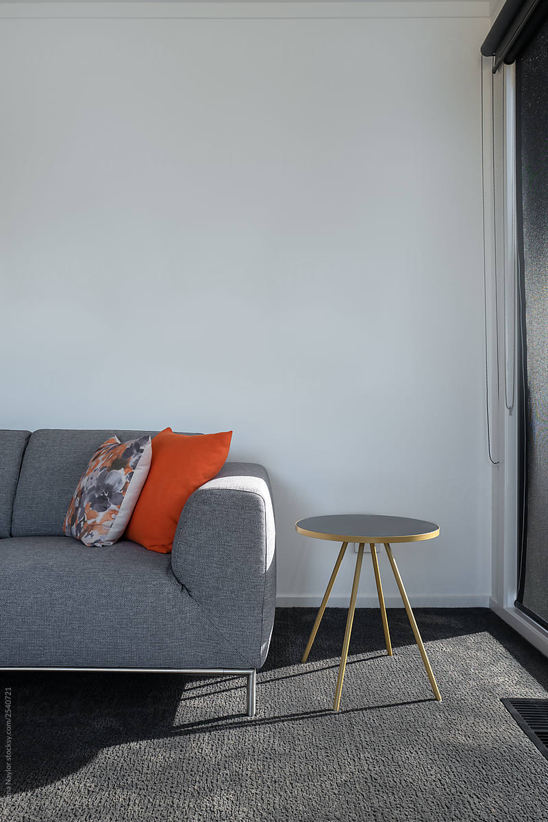Comfy Oversized Sofa In Modern Living Room By Rowena Naylor Stocksy United