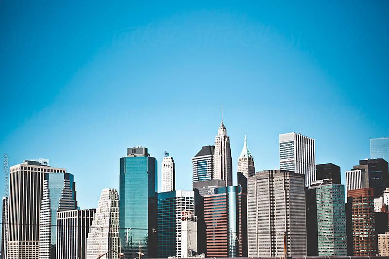 New York skyline by Sophia van den Hoek for Stocksy United
