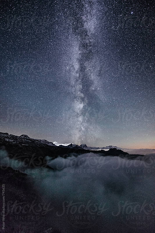Nightscape from Legler mountain hut by Peter Wey for Stocksy United