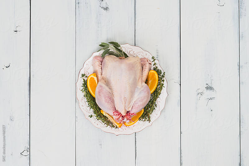 Fresh Organic Vegetarian Fed Chicken by suzanne clements for Stocksy United