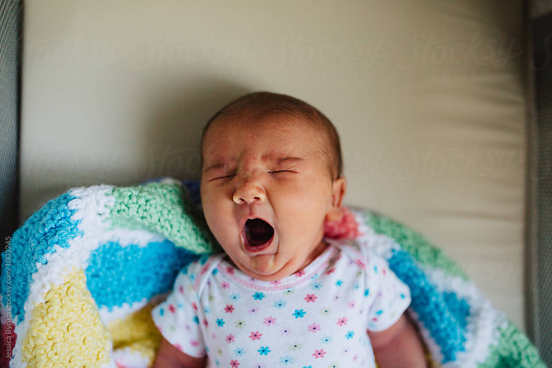 Baby Yawn by Jessica Byrum for Stocksy United