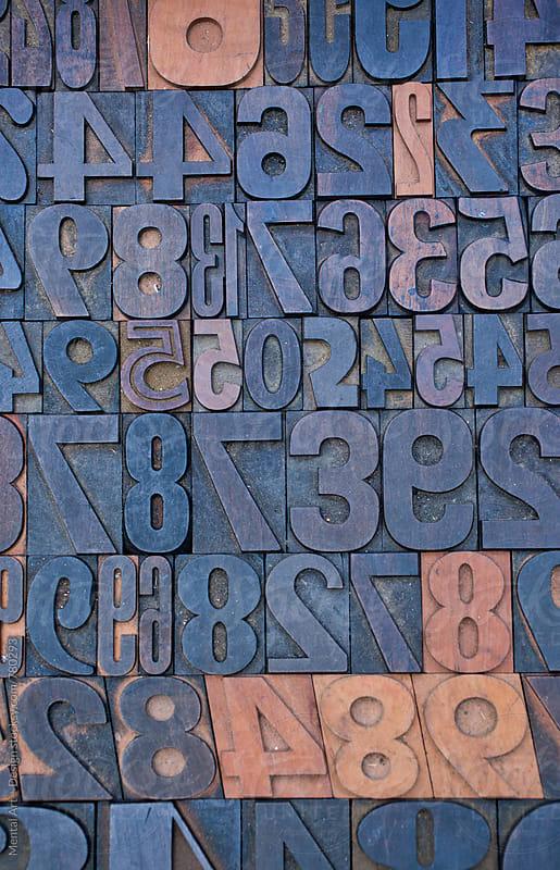 Wood Letter Blocks  by Mental Art + Design for Stocksy United