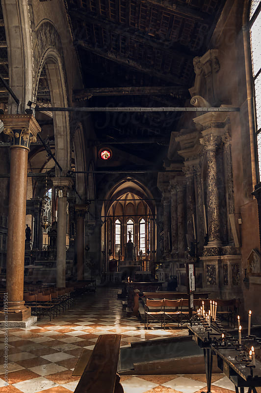 Church of San Stefano gothic style interior.Venice /Italy by Marko Milanovic for Stocksy United