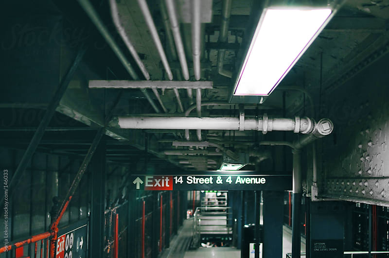 new york city subway by Sonja Lekovic for Stocksy United