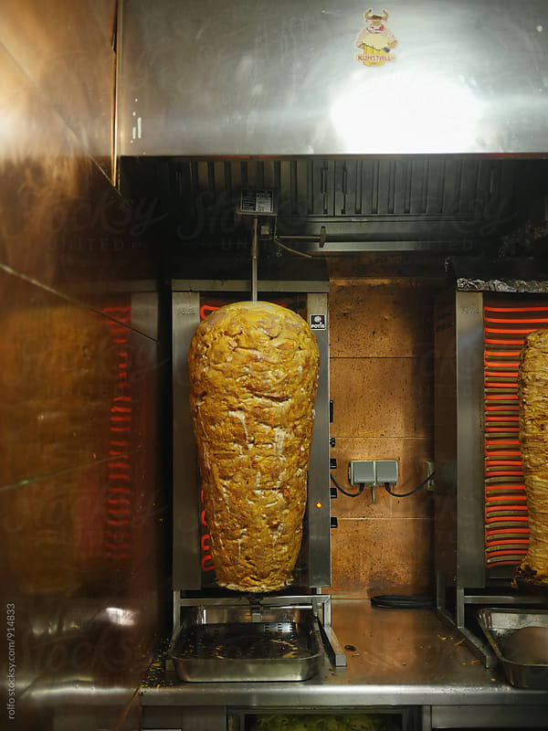 Shawarma on grill by rolfo for Stocksy United