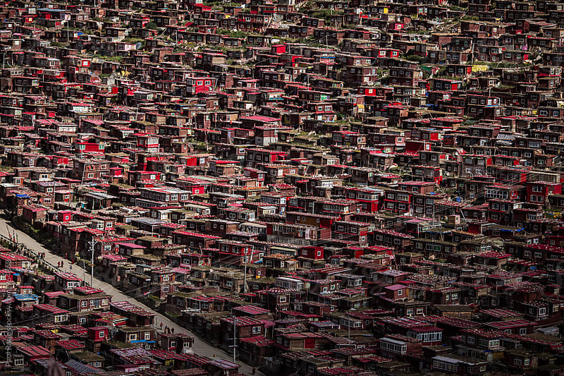 Larung Gar from Above by Paul Ratje for Stocksy United