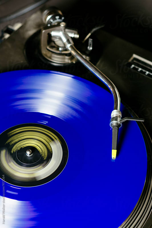 Blue vinyl by Harald Walker for Stocksy United