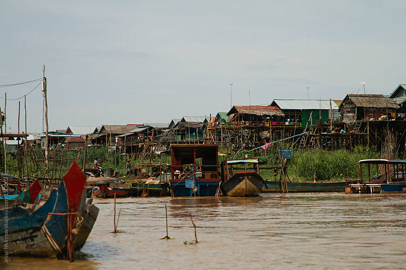 Cambodian Fishing Village by Jesse Morrow for Stocksy United