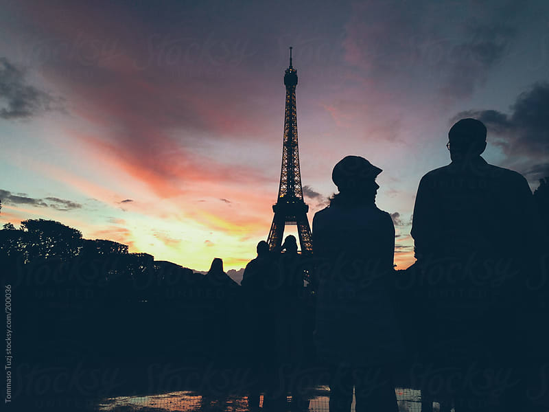 Eiffel tower at sunset by Tommaso Tuzj for Stocksy United