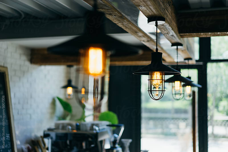 Lights in a cozy cafeteria by Maa Hoo for Stocksy United