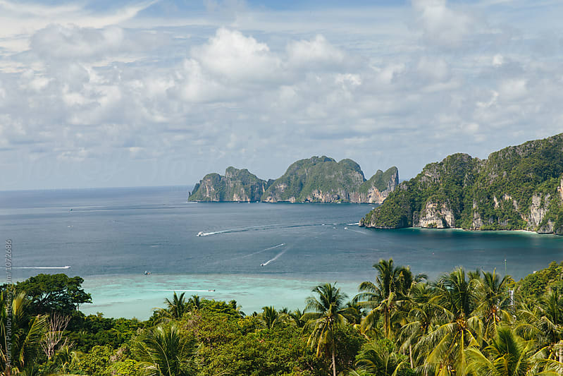 Beautiful view of Phi-Phi bay by Andrey Pavlov for Stocksy United
