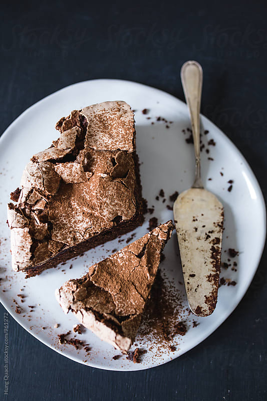 Chocolate Meringue Cake by Hung Quach for Stocksy United