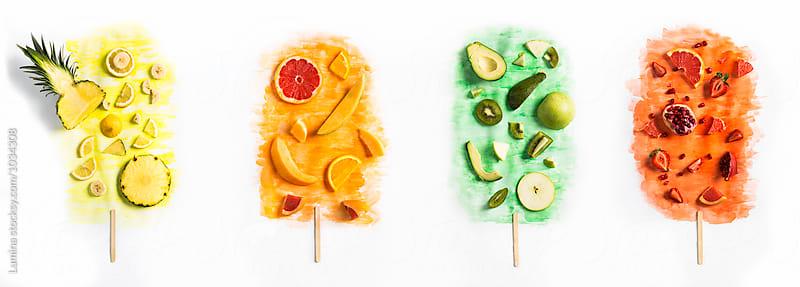 Fruit Popsicles by Lumina for Stocksy United