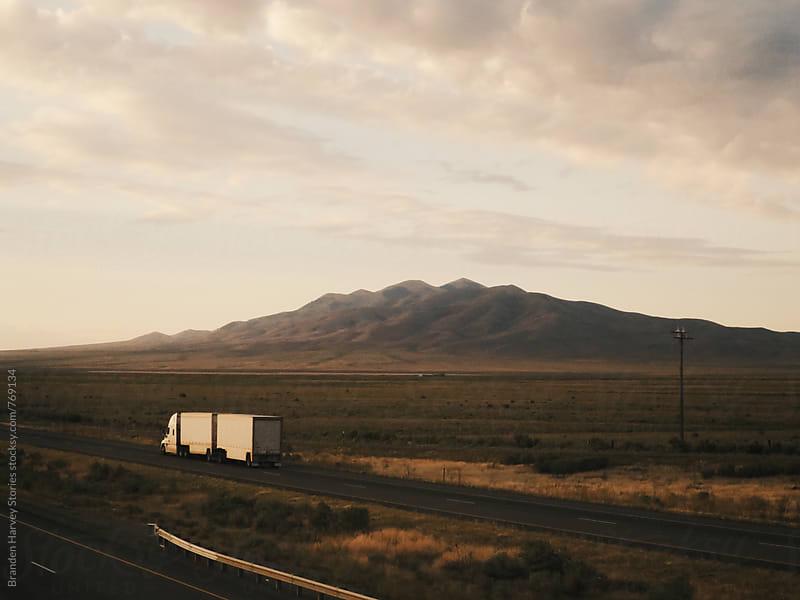Semi Truck Driving America by B. Harvey for Stocksy United